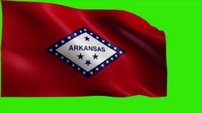 Stan Stany Zjednoczone Ameryka, usa stan, flaga Arkansas, AR, Little Rock, Czerwiec 15 1836 - pętla ilustracja wektor