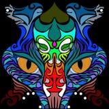 Stan umysłu Kolorowy wektorowy wizerunek w abstrakcjonistycznej sztuki stylu ilustracji