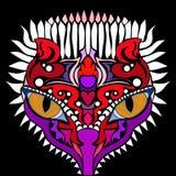 Stan umysłu Kolorowy wektorowy wizerunek w abstrakcjonistycznej sztuki stylu ilustracja wektor