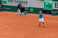 Stan Wawrinka at Roland Garros Stock Photo
