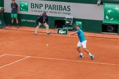 Stan Wawrinka at Roland Garros Royalty Free Stock Photography