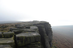 Stanage edge, Hathersage, Derbyshire. On a grey day Stock Photos