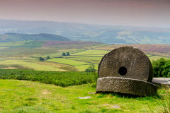 Stanage edge mill stones Royalty Free Stock Photo