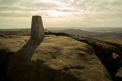 Stanage Edge, Peak District, Derbyshire. Gritstone edge located in the Peak District national park in Derbyshire Royalty Free Stock Photos
