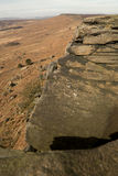 Stanage Edge, Peak District, Derbyshire. Gritstone edge located in the Peak District national park in Derbyshire Royalty Free Stock Photography