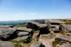 Free Stanage Edge View In A Sunny Spring Day Royalty Free Stock Photo - 183646745