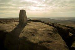 Stanage kant, maximalt område, Derbyshire Royaltyfria Foton