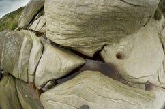 Stanage krawędź, naturalnego rockowej formaci szczytu Gromadzki park narodowy Wielki Machester, Anglia, Zjednoczone Królestwo, Eu Fotografia Royalty Free