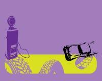 Stanchi i contrassegni e l'automobile Immagine Stock