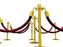 Stanchion Barrier Stock Photo