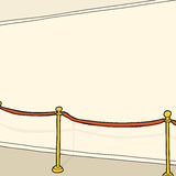 Stanchion and Blank Wall Stock Image