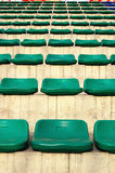 Stand. The stand with green seats Royalty Free Stock Photography