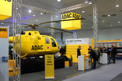 Stand of ADAC in CEBIT computer expo. HANNOVER, GERMANY - MARCH 10: stand of ADAC on March 10, 2012 in CEBIT computer expo, Hannover, Germany. CeBIT is the world Royalty Free Stock Photos