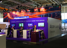 The stand of Alcatel-Lucent Royalty Free Stock Photos