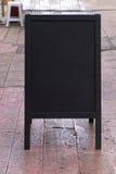 Stand alone black board Stock Photo