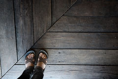 Stand alone on wood floor Royalty Free Stock Images