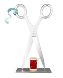 Stand for Atelier tailoring. 3d. Stand for Atelier tailoring isolated on white background. 3d illustration Stock Photography