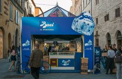The stand of Baci Perugina at Eurochocolate festival in Perugia Stock Photography