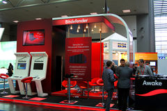 Stand of Bitdefender in CEBIT computer expo Royalty Free Stock Photos