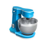Stand blue food mixer isolated on white background Stock Photography
