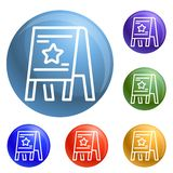 Stand board icons set vector vector illustration
