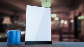 Stand for booklets white sheets of paper acrylic table  Royalty Free Stock Photo