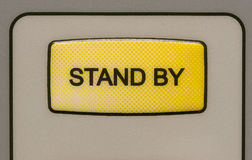 Stand by button. On a medical laser unit royalty free stock photos