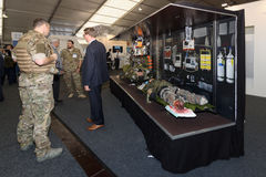 The stand of CAE Defence and Security. Stock Photos