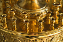 Stand for candles in Russian Orthodox Church. Detail of lamp stand for candles in Russian Orthodox Church Stock Image