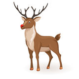 Stand cartoon reindeer Royalty Free Stock Photography