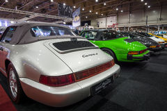 The stand of Center sports cars Hermens, Belgium. Stock Photography