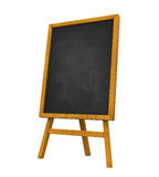 Stand Chalkboard. Isolated on white background. 3D render Stock Image