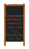 Stand Chalkboard With Two Sections And Menu Cutout Royalty Free Stock Photo