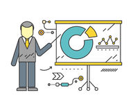 Stand with Charts and Parameters Stock Photos
