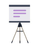 Stand with Charts and Parameters. Vector Royalty Free Stock Photography