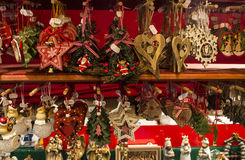 Stand of christmas ornament in strasbourg Stock Photo