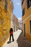 Stand at Ciutadella street. Ciutadella city at Menorca island in Spain Stock Image