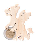 Stand for coins in the form of a dragon Royalty Free Stock Images