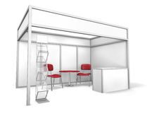 Stand commercial d'exposition illustration stock