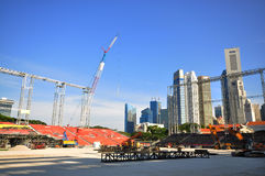 Stand Construction at Padang, Singapore Royalty Free Stock Photo