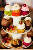 Stand of cupcakes Royalty Free Stock Photo