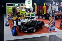 Stand d'exposition de Peugeot - M/H Images libres de droits