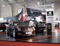 Stand de Cadillac au Salon de l'Automobile de Sofia Images libres de droits