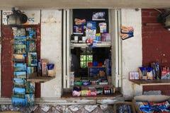 Stand de cartes postales en Grèce Photographie stock
