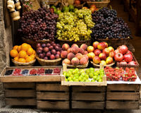 Stand de fruit, Sienne Italie Image stock