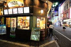 Stand de Gindaco Takoyaki Photographie stock