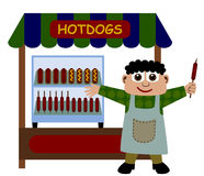 Stand de hot dog Illustration Libre de Droits