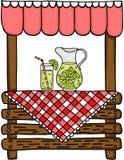 Stand de limonade en bois Illustration de Vecteur