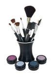 stand de produits de beauté de balais Photographie stock libre de droits