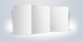 Stand de publicité blanc de panneaux Image libre de droits